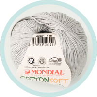 Wolle Mondial Cotton Soft Bio grau