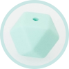 Hexagonperle mint 14mm