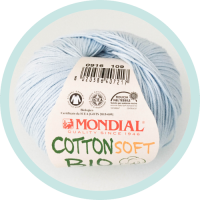 Wolle Mondial Cotton Soft Bio babyblau