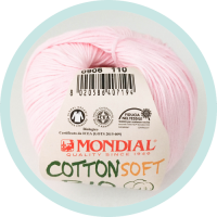 Wolle Mondial Cotton Soft Bio rosa