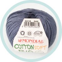 Wolle Mondial Cotton Soft Bio dunkelblau