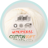 Wolle Mondial Cotton Soft Bio creme