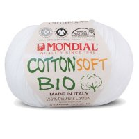 Wolle Mondial Cotton Soft Bio weiß