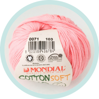 Wolle Mondial Cotton Soft Bio babyrosa