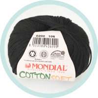 Wolle Mondial Cotton Soft Bio schwarz